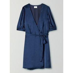 Wilfred Wrap Dress - Navy